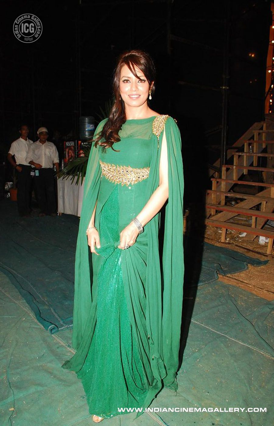 Actress Mahima Choudhary In Green Dress Sexy Pictures -7191